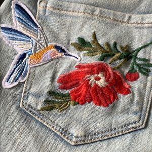 Arizona Jean Company Shorts - Patch and embroidered denim shorts 1 jean bees